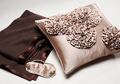 Silk Luxuries by Kumi Kookoon -   There are few things more decadent than sleeping in silk. Drape your bed in luxury with this collection of silk bedding and accessories from Kumi Kookoon. Here, find sheet sets, soft throws, embellished pillows, not to mention sleek robes and eyes masks—all in soothing hues. After spending a n...  #Belt, #Mask, #Pillow, #Robe, #Throw, #Tie