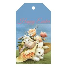 Retrovintage easter bunny card retro gifts style cyo diy retrovintage bunny chick gift tags negle Image collections