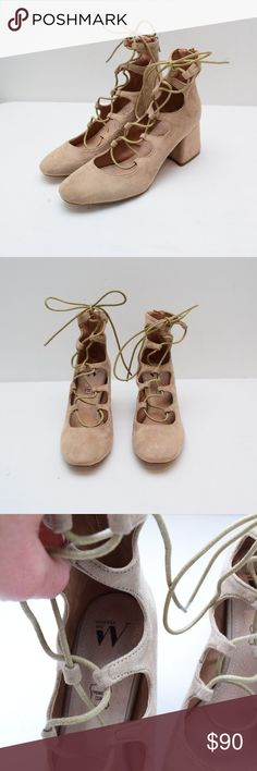 93eff98a5b1e Vanessa Wu Lace Up Ankles Booties 39 9 Tan Vanessa Wu Lace Up Ankles  Booties