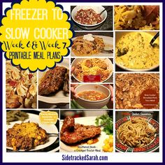 Freezer to Slow Cooker Weeks 6 & 7 Printables AVAILABLE NOW