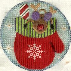 Rebecca Wood Christmas Ornament, needlepoint