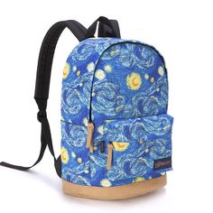 New Galaxy Clouds Graffiti Canvas Backpack