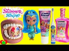 Brushing Shine's Teeth From Shimmer and Shine with Hatchimals Surprises - YouTube