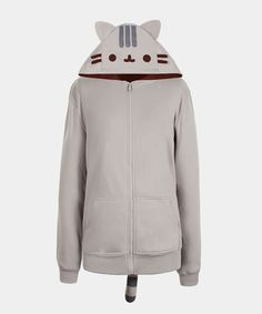 Pusheen the Cat costume hoodie (unisex) - This adorable costume hoodie is purrfectly Pusheen! Pair it with gray sweatpants for a full costume look, or with jeans for a cute casual look!