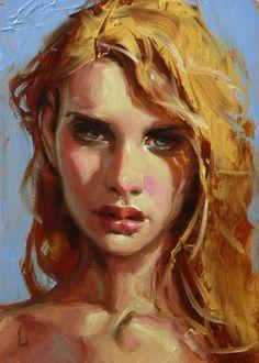 """""""Sunshine"""" by John Larriva, oil on hardboard. #OilPaintingIdeas #Art"""