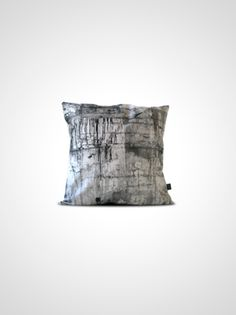 http://www.howareyou.se/  DRIPS N CRACKS  Pillowcase with DRIPS N CRACKS print on front and back, part of the collection MAKING HARD THINGS SOFT.   Made of canvas 280 g, 100% cotton. Fits a 50x50 cm pillow.   Printed and handmade in Sweden.