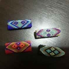 Miyuki deri üstü bileklik Gümüşlük taki dünyası Bead Loom Bracelets, Peyote Beading, Peyote Patterns, Bracelet Patterns, Beading Patterns, Beaded Rings, Beaded Jewelry, Peyote Stitch Tutorial, Loom Bracelets