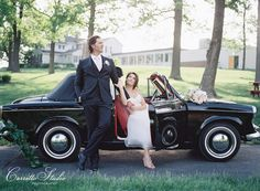 Romantic getaway car for a Blush + Silver Inspiration Shoot in St. Louis, MO by Absolutely IN! Events | Photography: Carretto Studio