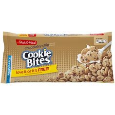 Malt-o Meal Chocolatey Chip Cookie Bag Cereal Dog Food Recipes, Snack Recipes, Snacks, Oreo O's Cereal, Malt O Meal, Best Cereal, Breakfast Cereal, Cookies And Cream, Chip Cookies