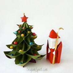 Saint Nicholas (Leyla Torres) Christmas Tree (Vicente Dolz) Tutorials: http://www.origamispirit.com/2013/12/how-to-make-an-origami-saint-nicholas/ . #origami #paperart #origamiforchristmas #christmasorigami #christmastree #origamichristmastree #origamisanta #saintnicholas #saintnicolas #paperart #OrigamiSpirit  #leylatorres #santaclaus #santa #papersanta #christmascraft #handmade #christmasornament #handmadegift #origamitutorial #xmas