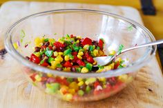 Southwestern salsa with black beans, corn, and pineapple by JuliasAlbum.com, via Flickr