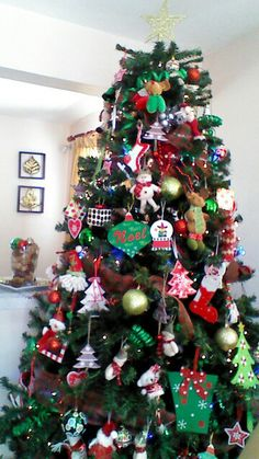 Our mixed christmas tree!