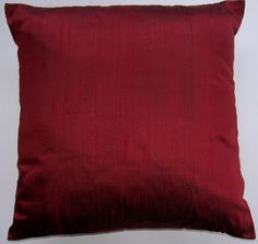 Ruby Red Throw Pillow Cover  Red Silk Decorative by sassypillows