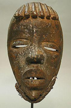 Face Mask 19th–20th century Geography: Côte d'Ivoire, western Côte d'Ivoire…