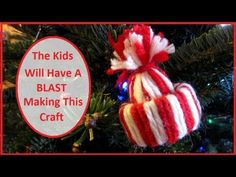 Make A Winter Hat Christmas Ornament - This is a GREAT Christmas decoration idea. Here is how to make this adorable ornament out of only yarn and a piece of a toilet paper roll. They make great gifts and they cost next to nothing to make. The kids will LOVE making these also.