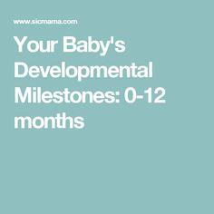 Your Baby's Developmental Milestones: 0-12 months