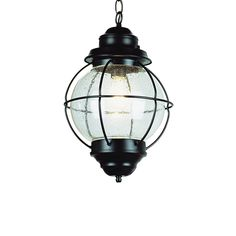 Porch Light -- Bel Air Lighting 19-in Oil-Rubbed Bronze Outdoor Pendant Light at Lowes.com