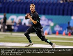 Jared Goff to work out for Cowboys, Jerry Jones this weekend.: Jared Goff to work out for Cowboys, Jerry Jones this weekend College Quarterbacks, Jerry Jones, Young Guns, Nfl, Sporty, Running, Workout, Jared Goff, Cowboys