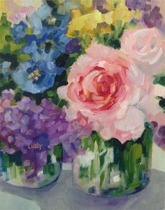 "Daily Paintworks - ""Delighted"" - Original Fine Art for Sale - © Libby Anderson"