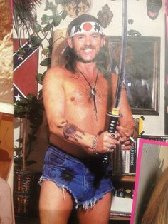 Lemmy Kilmister being as Lemmy as he can be: A lesson in heavy metal semiotics. Description from pinterest.com. I searched for this on bing.com/images
