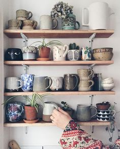 Ceramic mugs. Love the variety Ceramic mugs. Love the variety Ceramic mugs. Love the variety Ceramic mugs. Love the variety Home And Deco, Ceramic Mugs, Stoneware, Ceramic Bowls, Ceramic Art, Cozy House, Home Kitchens, Sweet Home, Indoor