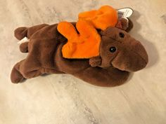 Beanie Baby Original TY Chocolate Moose Authenticated RARE Retired Collectable #Ty