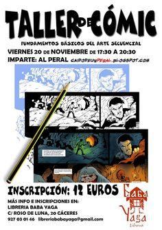 CAIDO DE UN PERAL - Cómic e Ilustración: Taller de cómic en librería Baba Yaga