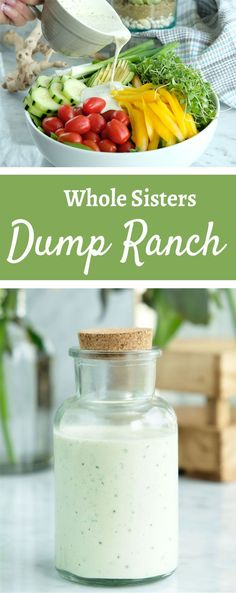 Our clean Dump Ranch has been a winner from the beginning! You can make it from staple pantry ingredients. it's so easy that you just DUMP all the ingredients together to make it. That's how it got it's name. Head on over to our website to get the step by