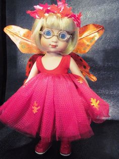 "Cute Fall Butterfly Outfit + Shoes for 10"" Ann Estelle Patsy Boneka Dolls 