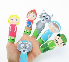 Little Red Riding Hood Finger Puppets – Easy Peasy and Fun - Ostergeschenke Basteln Little Red Ridding Hood, Red Riding Hood, Preschool Activities, Activities For Kids, Travel Activities, Traditional Tales, Finger Plays, Finger Puppets, Easy Peasy