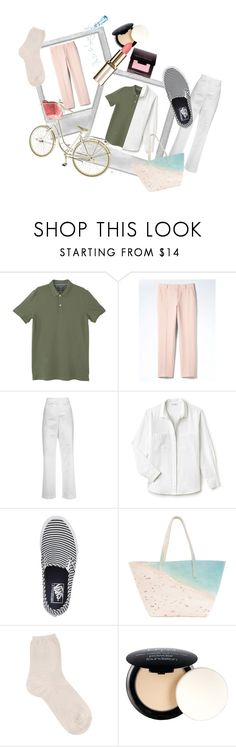 """My Real Coordinate"" by kaori00 ❤ liked on Polyvore featuring MANGO, Banana Republic, Acne Studios, Lacoste, Vans, Paige Gamble, FABIANA FILIPPI, NYX and Laura Mercier"