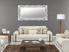 Dekoratif Ahşap Duvar Aynası