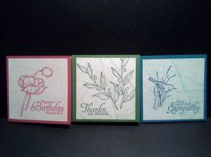Stampin' Up! -Simply Sketched SET 3: A cute little set of 3x3 gift cards.   www.stampin4all.blogspot.com.au