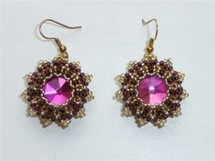 """MK on earrings to """"Granada"""" (set """"Corporate"""")   biser.info - all about beads and bead work"""