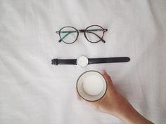 Milk glass| glasses | watch.aesthetic