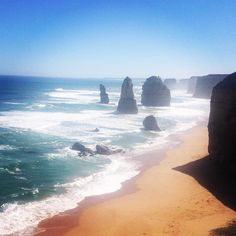 So peaceful and pretty down here after so long living in the #CBD  #12apostles #GreatOceanRoad #Melbourne #RoadTrip #Backpacker #Travel #Australia by msmarcii http://ift.tt/1ijk11S