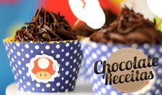 Cupcake de Chocolate  Este cupcake é delicioso! Pode ser chamado de Cupcake de Brigadeiro.  Essa é a massa do Cupcake de Chocolate da Selma Ximenes postado pela Camila Conti no blog Culinária-Receitas.  A cobertura é o Brigadeiro para usar no saco de confeitar do blog do Mauro Rebelo.
