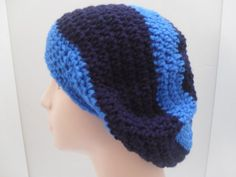 Blue Stripe Slouchy Hat | Surprise Designs