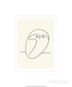Eule Siebdruck von Pablo Picasso bei AllPosters.de
