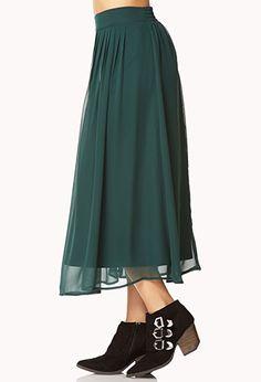 Chiffon Midi Skirt   FOREVER21 - 2000092011