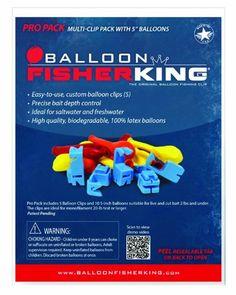 Easy Use Balloon Fishing Clip Kit Balloon Clips /& Biodegradable Balloons 5ct