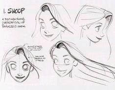 "findingcorona: ""An homage to Rapunzel's hair. Concept art by Glen Keane. """