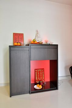 #altar #simple #woodwork #melamine #red #darkwoodcolour #goldencarpentry  #malaysia