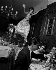 """Fly"" - Dior Spring Collection, Paris, 1965. Photo: Melvin Sokolsky."