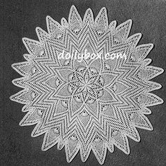 Sunburst Pineapple Doily - envisioning this writ large in worsted weight with an H or I hook. Free Crochet Doily Patterns, Crochet Symbols, Crochet Diagram, Filet Crochet, Crochet Motif, Crochet Doilies, Crochet Designs, Crochet Table Topper, Crochet Tablecloth