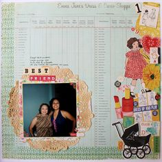 """""""BestFriends"""" 12x12 layout using """"Emma´s Shoppe"""" @create_paper   collection by  @americancrafts"""