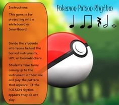 Pokemon POISON Rhythms by Kauffman Music | Teachers Pay Teachers