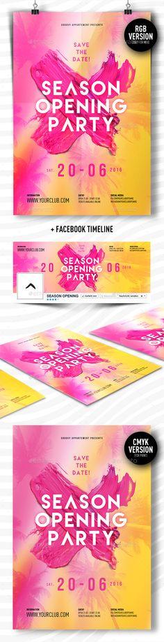 Pol Splash Water party sample Party Flyer Design Pinterest