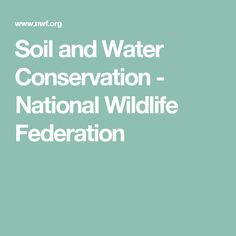 Soil and Water Conservation - National Wildlife Federation