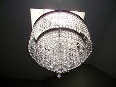 Skylight with sconcependants good idea skylights chandelier chandelier under the skylight aloadofball Images
